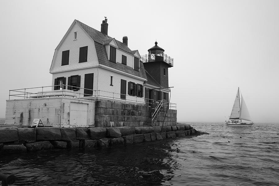 Fog Photograph - Foggy Day Sail by Doug Mills