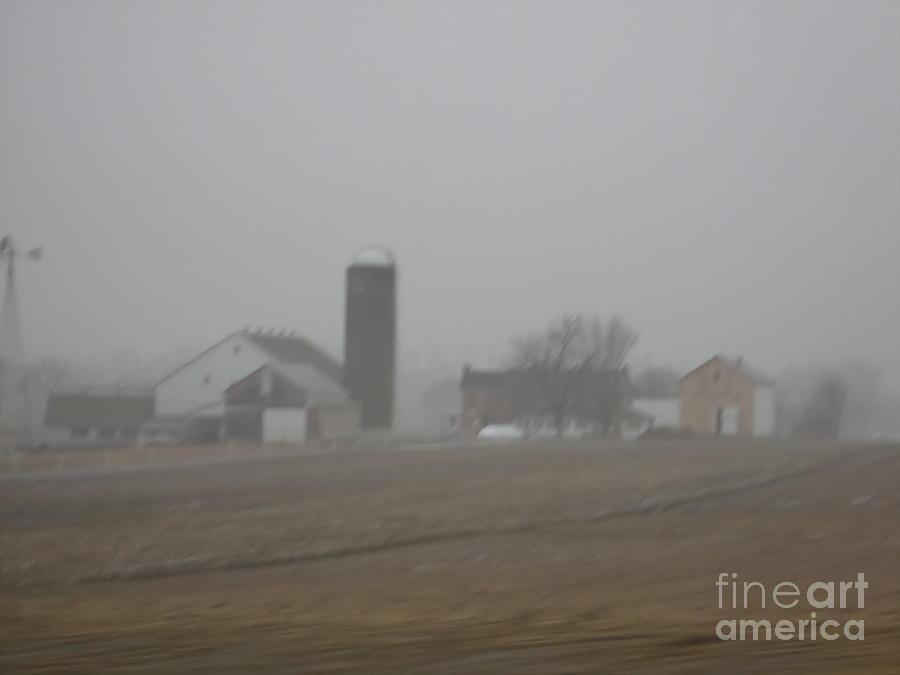 Amish Photograph - Foggy Evening by Christine Clark