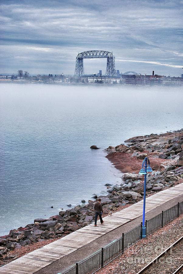 Lake Superior Photograph - Foggy Lake Superior Afternoon by Ever-Curious Photography