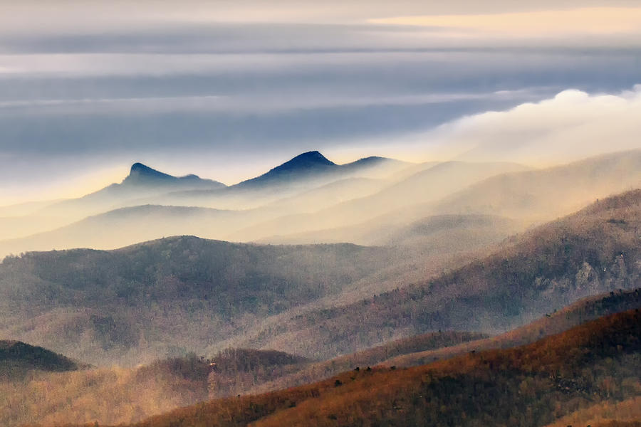 Foggy Morning at Hawksbill and Table Rock by Ken Barrett