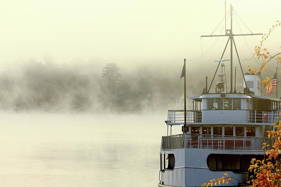 Mount Washington Photograph - Foggy Morning Cruise by Brian Pflanz