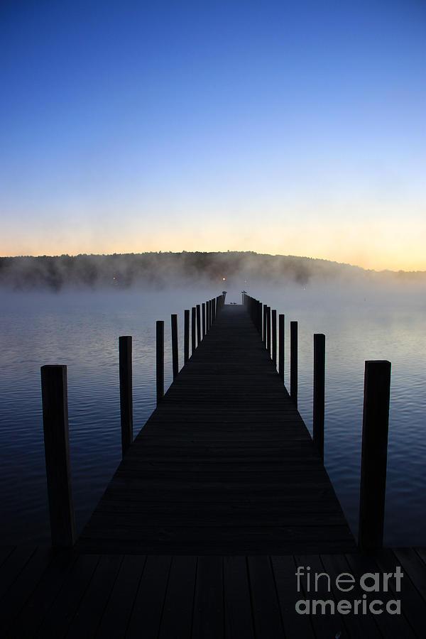 Meredith Nh Photograph - Foggy Morning Docks 1 by Michael Mooney
