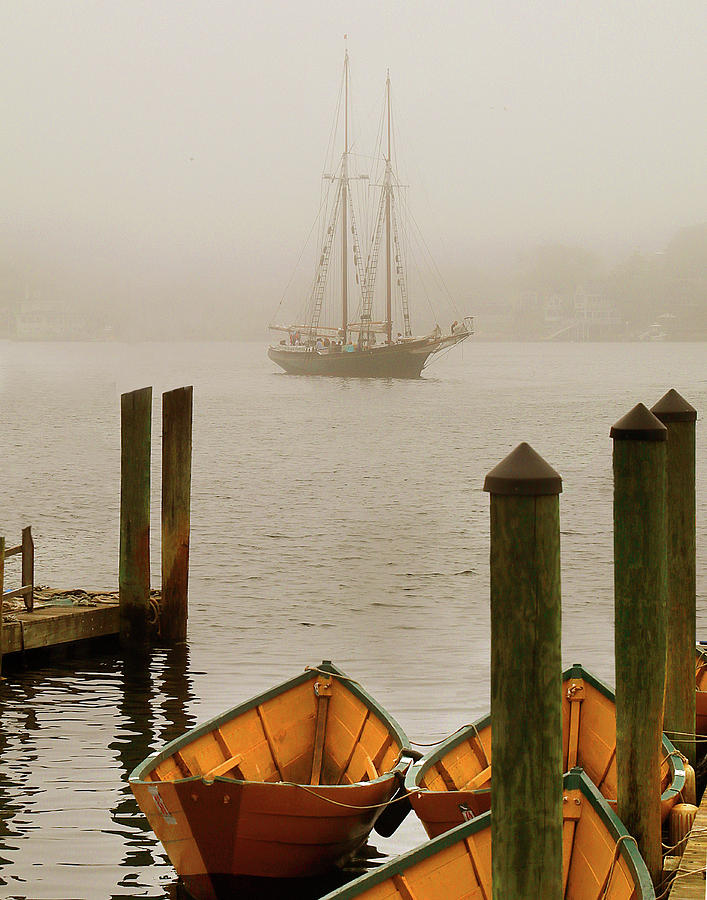 Foggy Morning in Gloucester MA by Michele A Loftus