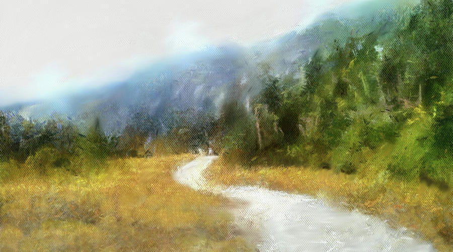 Path Painting - Foggy Morning On Mount Mansfield - 2014 by Dennis Kirby