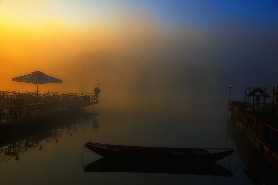 River Photograph - Foggy Morning On River by Svetlana Peric
