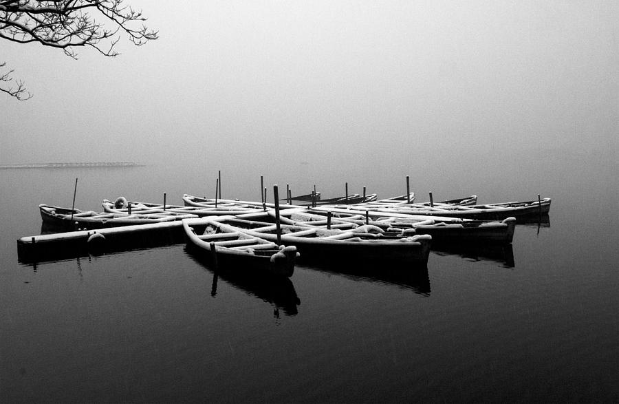 Foggy morning on West Lake by Jed Holtzman
