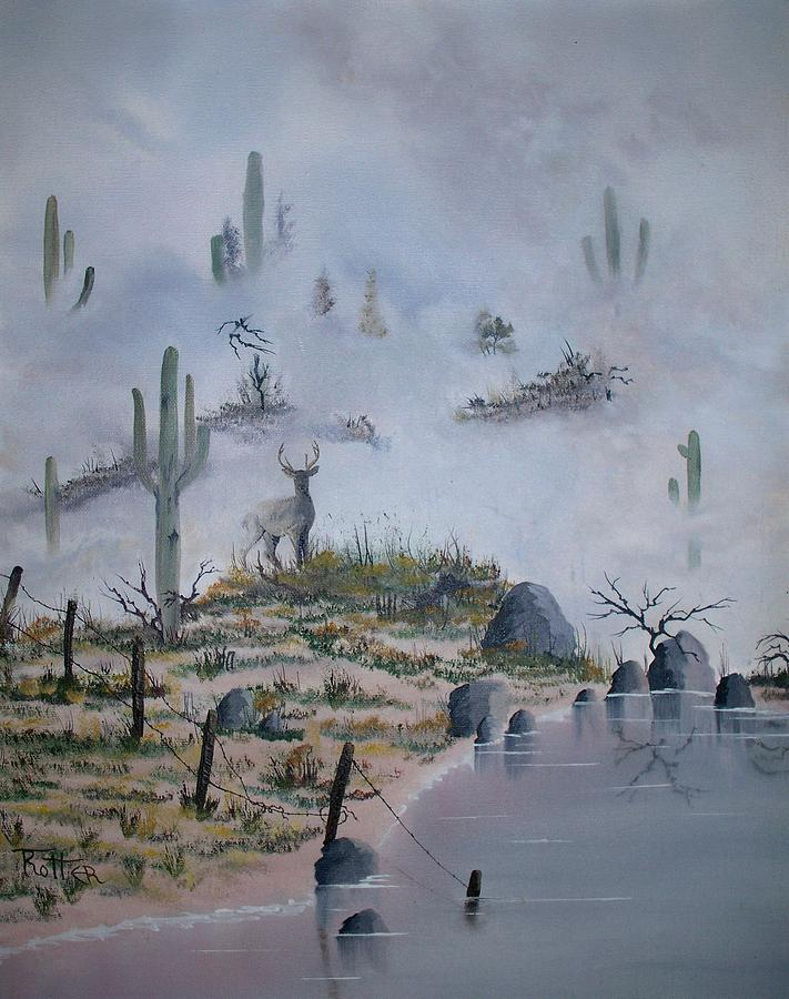 Animals Painting - Foggy Morning by Patrick Trotter