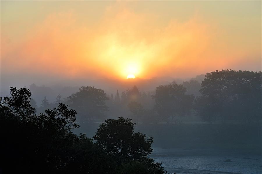Fog Photograph - Foggy Morning Sunrise by Jewels Hamrick