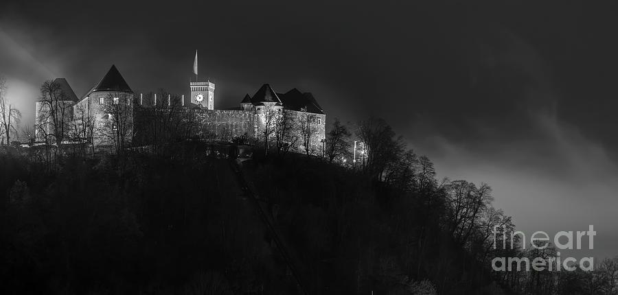 Europe Photograph - Foggy Night In Ljubljana by Vyacheslav Isaev