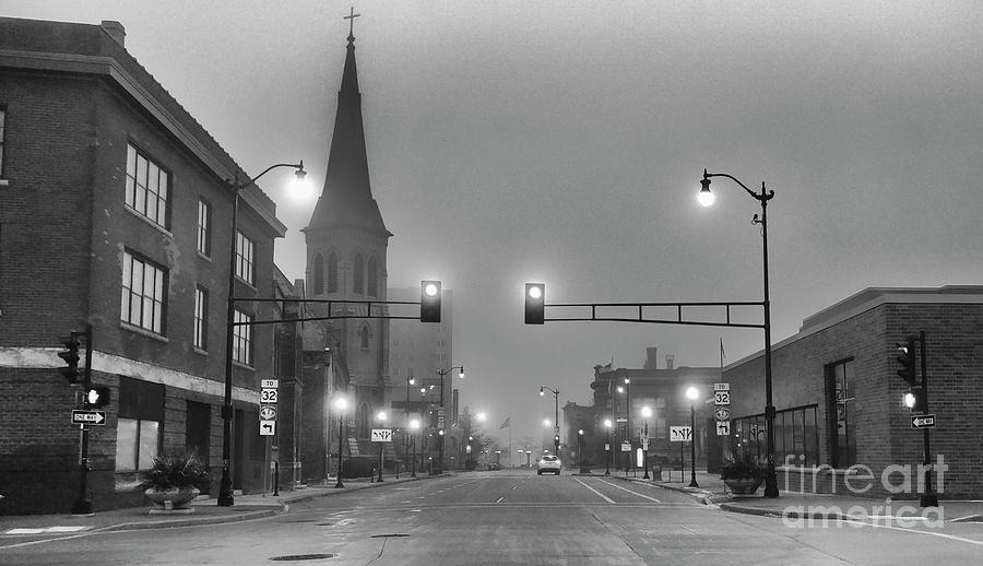Morning Photograph - Foggy Racine Morning  by Ricky L Jones
