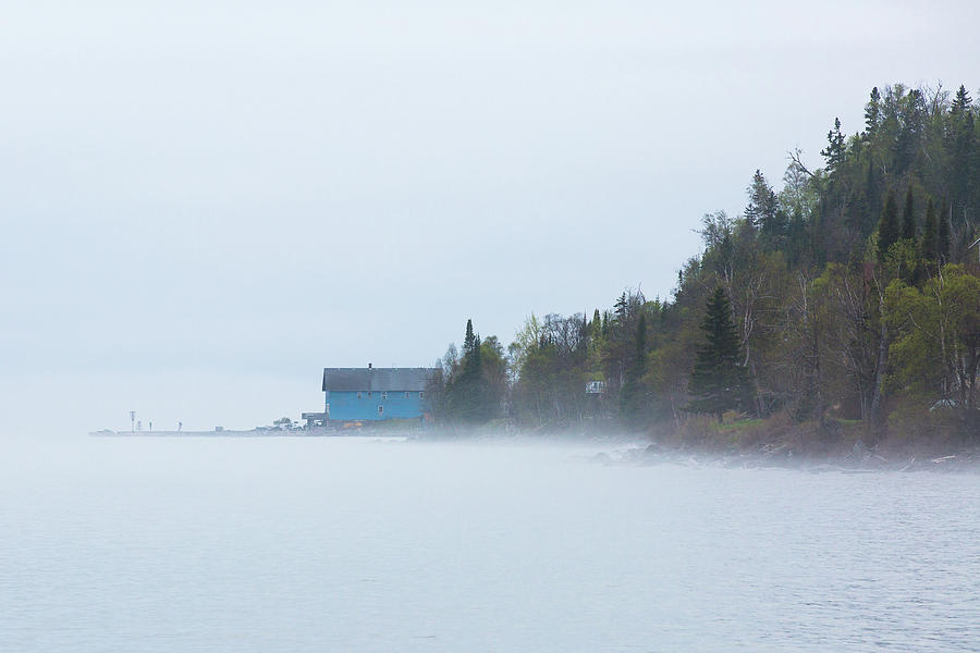 Silver Islet Photograph - Foggy Store by Linda Ryma