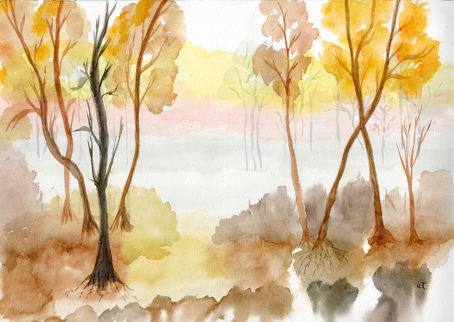 Foggy Suwannee Painting by Warren Thompson