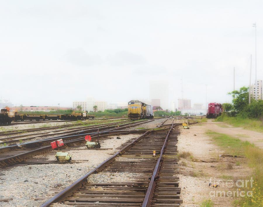 Foggy Trainyard by JB Thomas