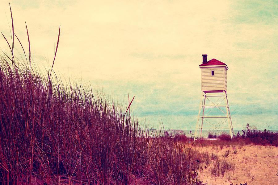 Lighthouse Photograph - Foghorn At Big Sable Point by Michelle Calkins