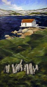 Landscape Painting - Fogo Newfoundland by Lisa Graziotto