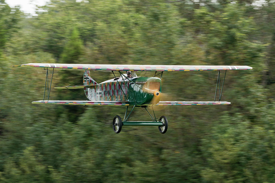 Action Photograph - Fokker C.i Flyby by Liza Eckardt