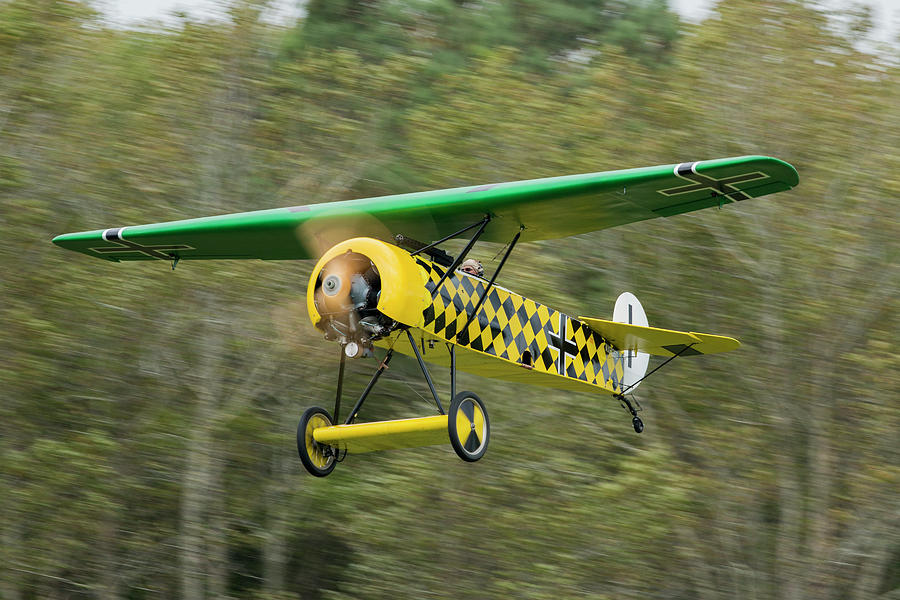 Fokker D.VIII Taking Off by Liza Eckardt
