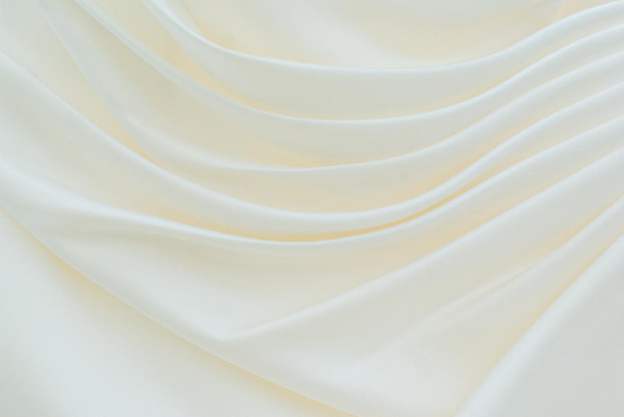Dress Photograph - Folded Fabric Waves by Meirion Matthias
