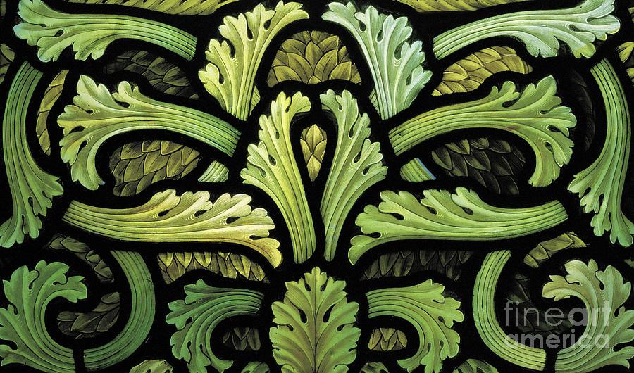 Henry Holiday Glass Art - Foliage Pattern by Henry Holiday