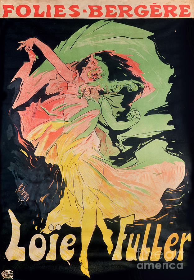 Jules Painting - Folies Bergeres by Jules Cheret