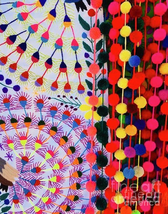 Folk Art Fabric by Bill Thomson