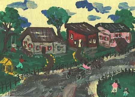 folk art II Painting by Jon Noah