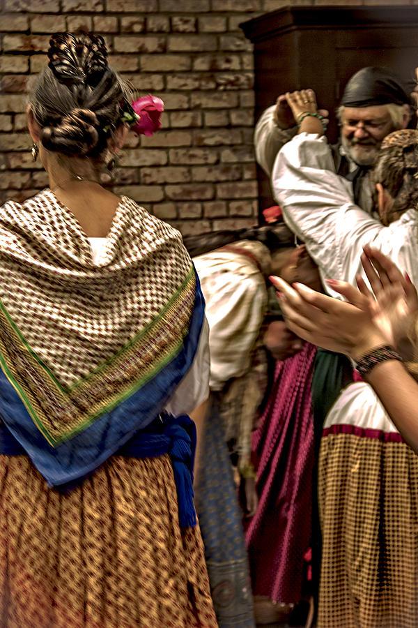 Folk Dancers Photograph - Folk Dancers by Ellen Berrahmoun