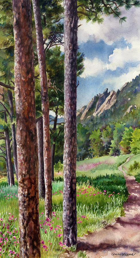 Boulder Painting - Follow Me by Anne Gifford
