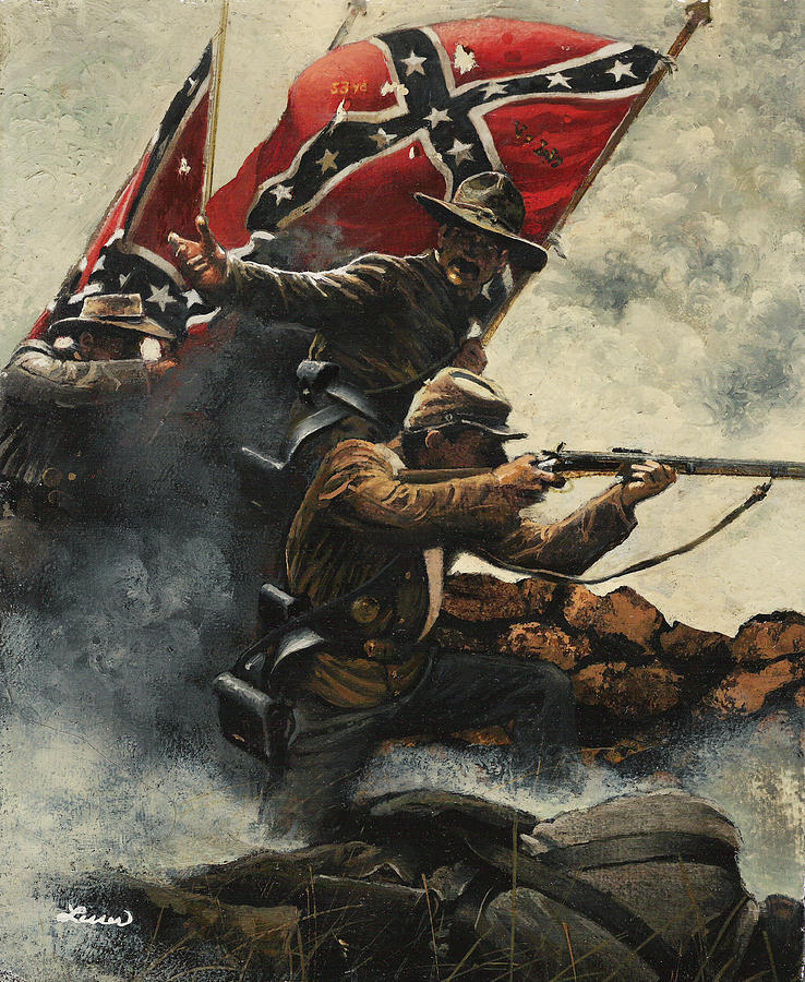 Civil War Painting - Follow Me Boys by Ron Lesser