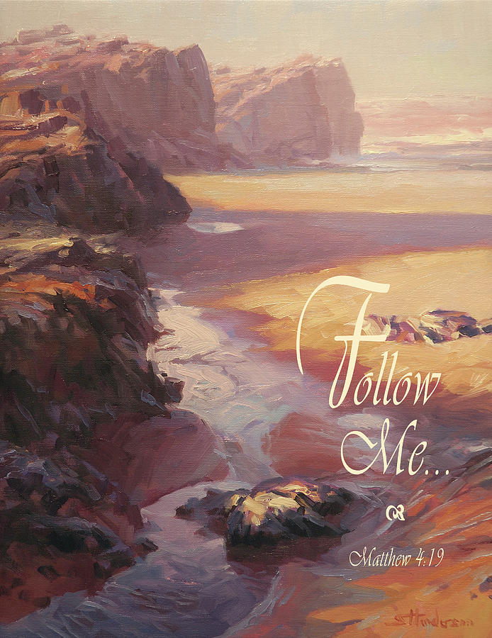 Christian Digital Art - Follow Me by Steve Henderson