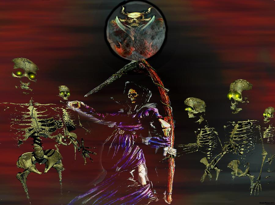 Halloween Digital Art - Follow Me Too.... by Evelyn Patrick