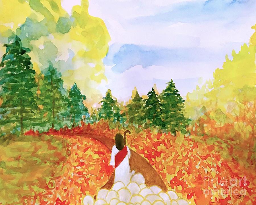Good Shepherd Painting - Follow Me  by Wonju Hulse