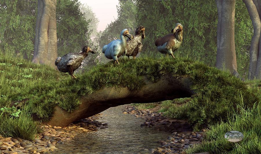 Wildlife Digital Art - Follow The Dodo by Daniel Eskridge