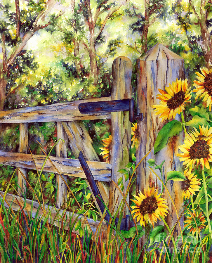 Garden Painting - Follow The Sun by Winona Steunenberg