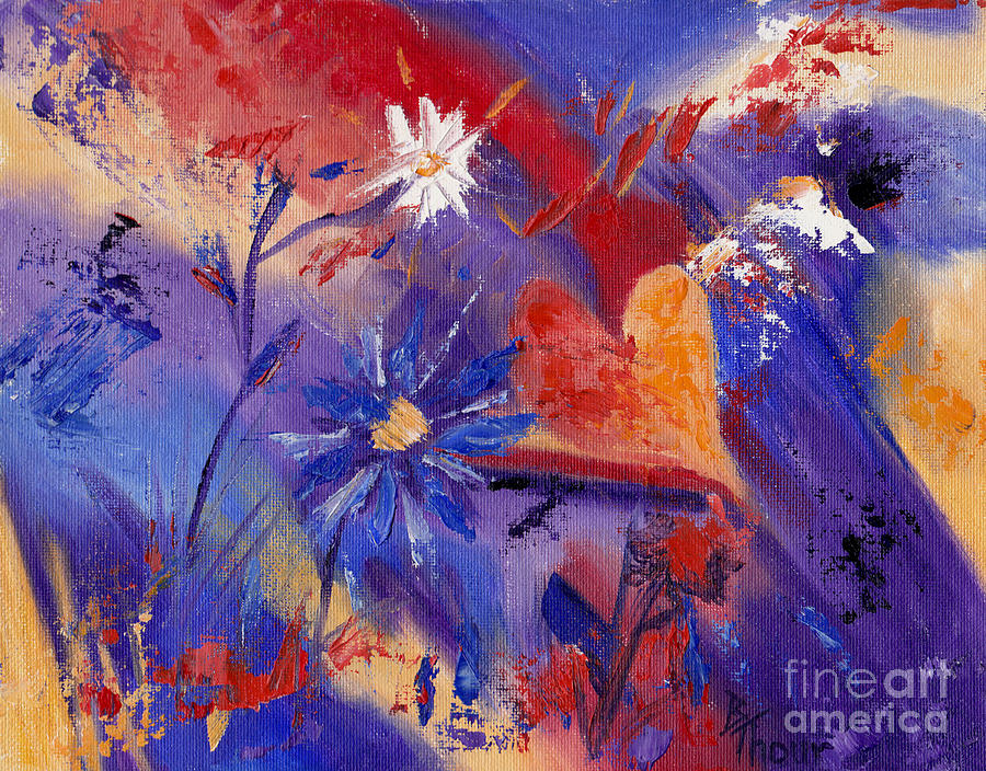 Abstract Painting - Follow Your Heart by Brenda Thour