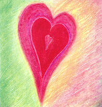 Heart Pastel - Follow Your Heart by Kirsi Wahlstrom