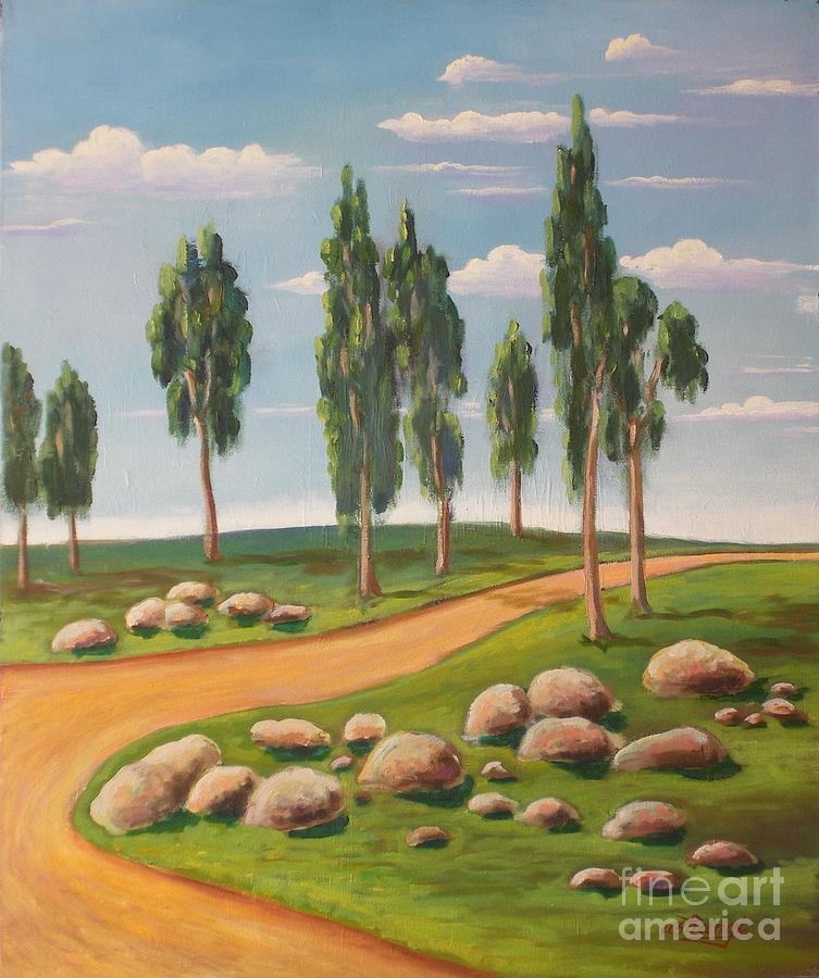Landscape Painting - Following by Ushangi Kumelashvili