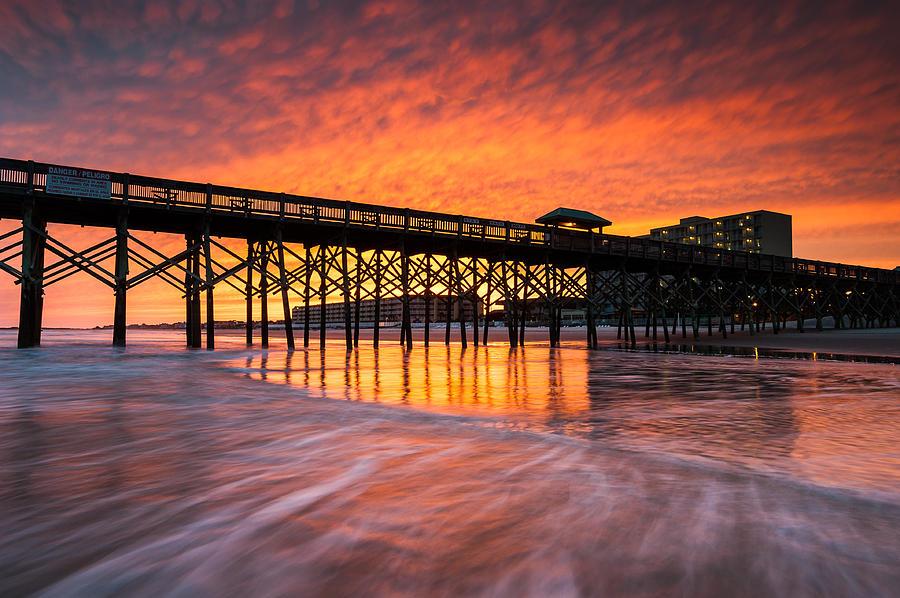 Charleston Photograph - Folly Beach Pier And Waterfront Development Charleston South Carolina by Mark VanDyke