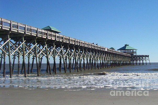 Charleston Photograph - Folly Beach Pier by Melanie Snipes