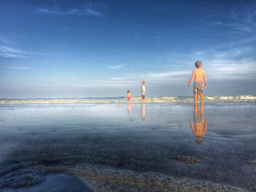 Folly Beach Reflections by Pat Moore