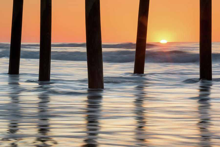 Atlantic Ocean Photograph - Folly Beach Sunrise Charleston South Carolina by Mark VanDyke