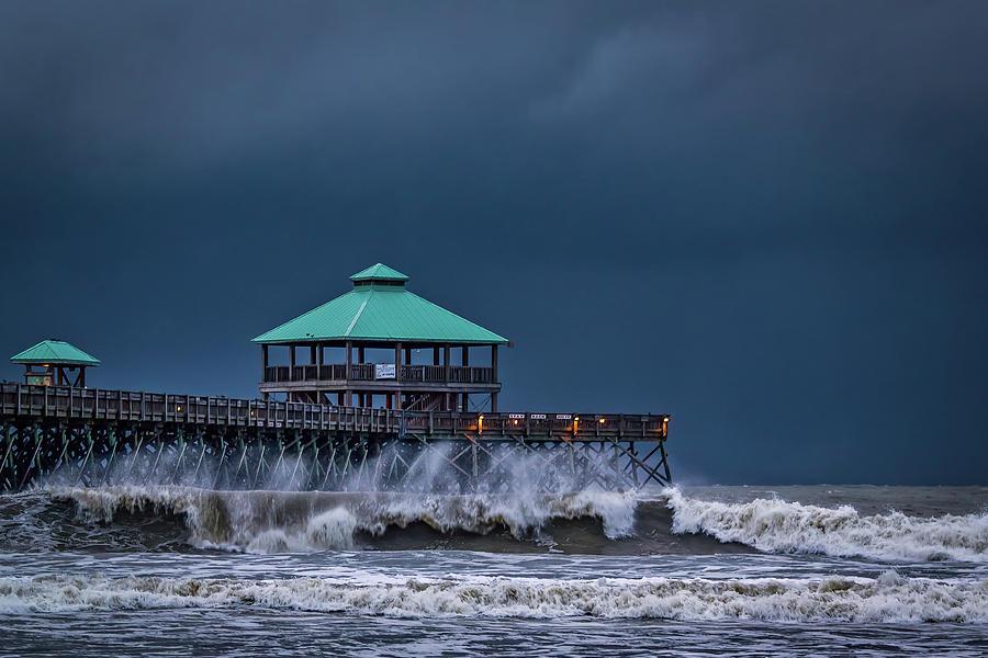 Night Photograph - Folly Storm by Drew Castelhano