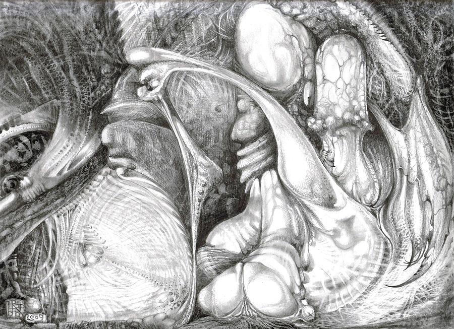 Fomorii Drawing - Fomorii Interior by Otto Rapp