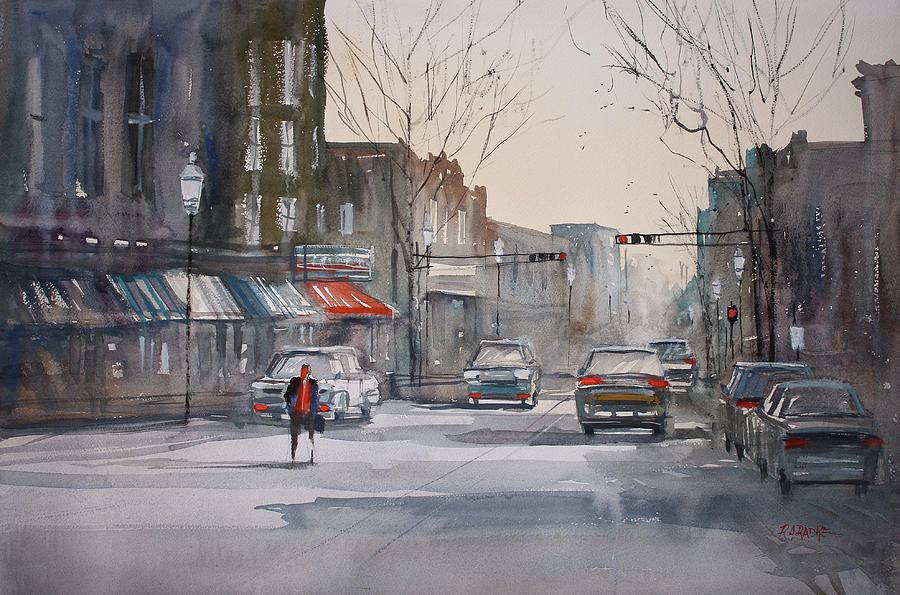 Street Scene Painting - Fond Du Lac Revisited by Ryan Radke