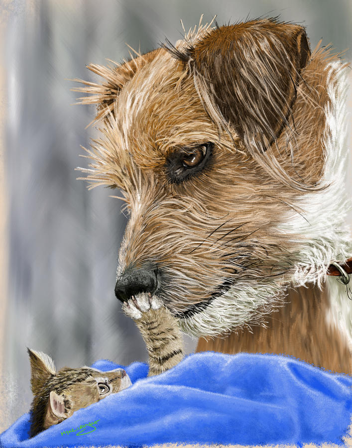 Dog Painting - Friends of Norfolk Animal Care Center  by Myke  Irving