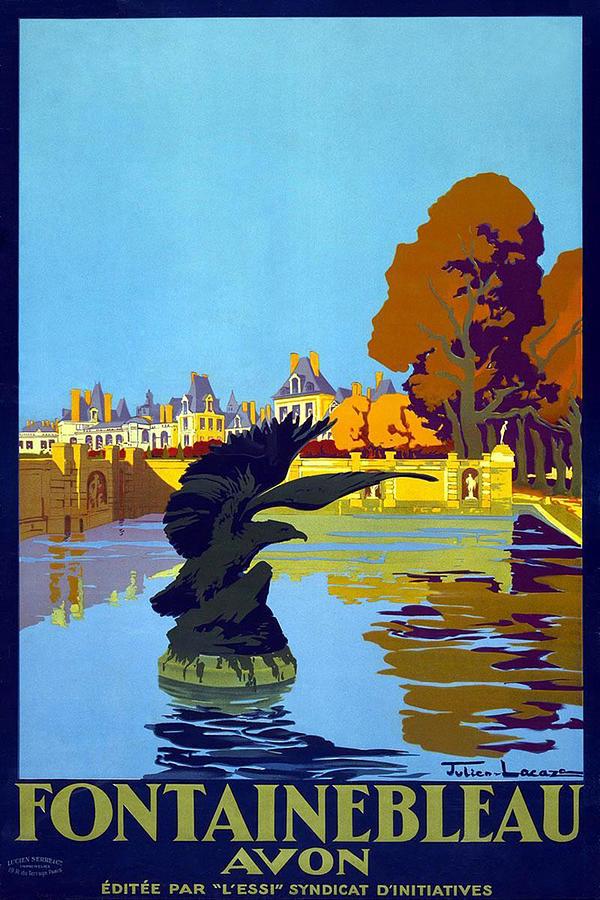 Fontainbleau Avon - Vintage Travel Poster Painting