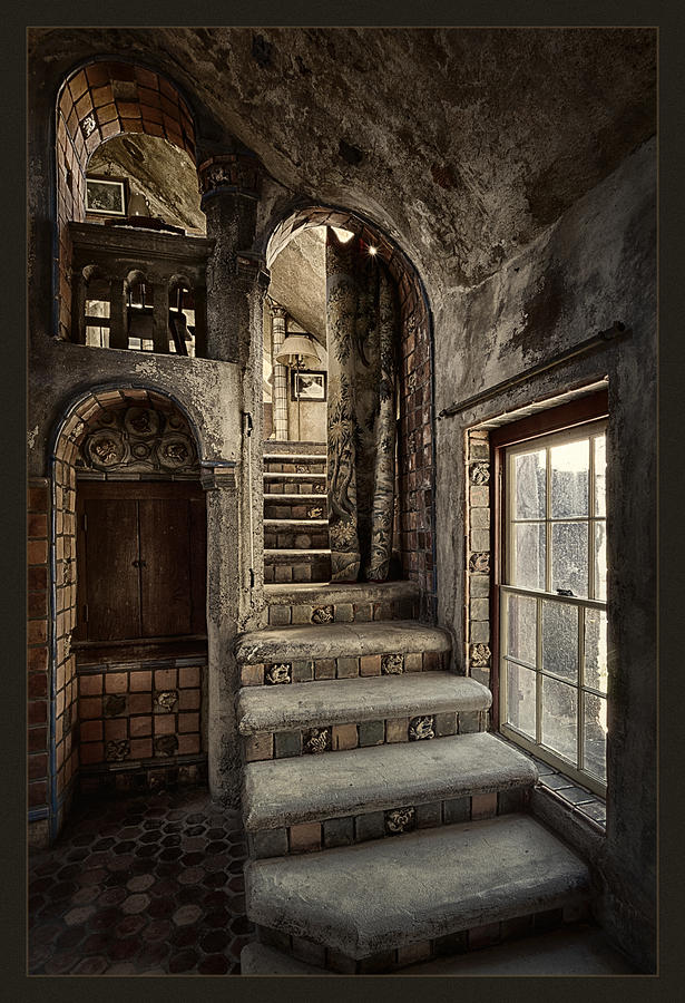 Miniature Staircase Stonetower : Fonthill castle stairwell photograph by robert fawcett