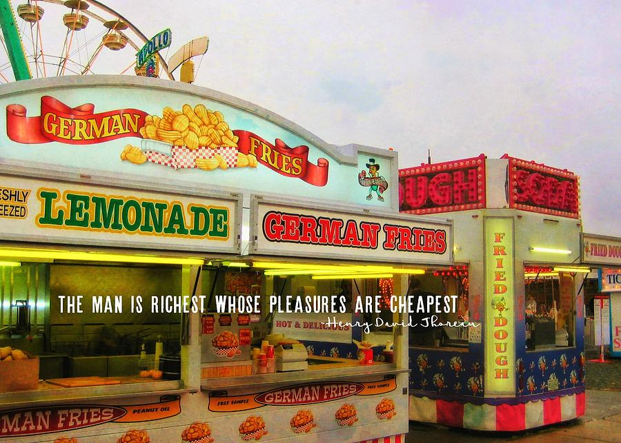 Amusement Photograph - Food And Fun Quote by JAMART Photography
