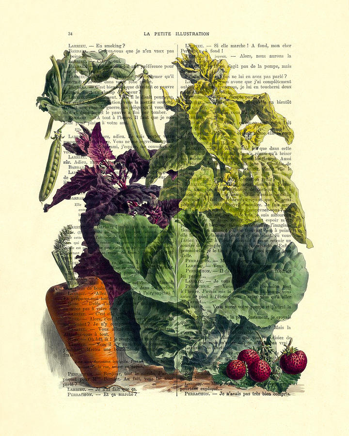 Fruits And Vegetables Digital Art - Food art by Madame Memento