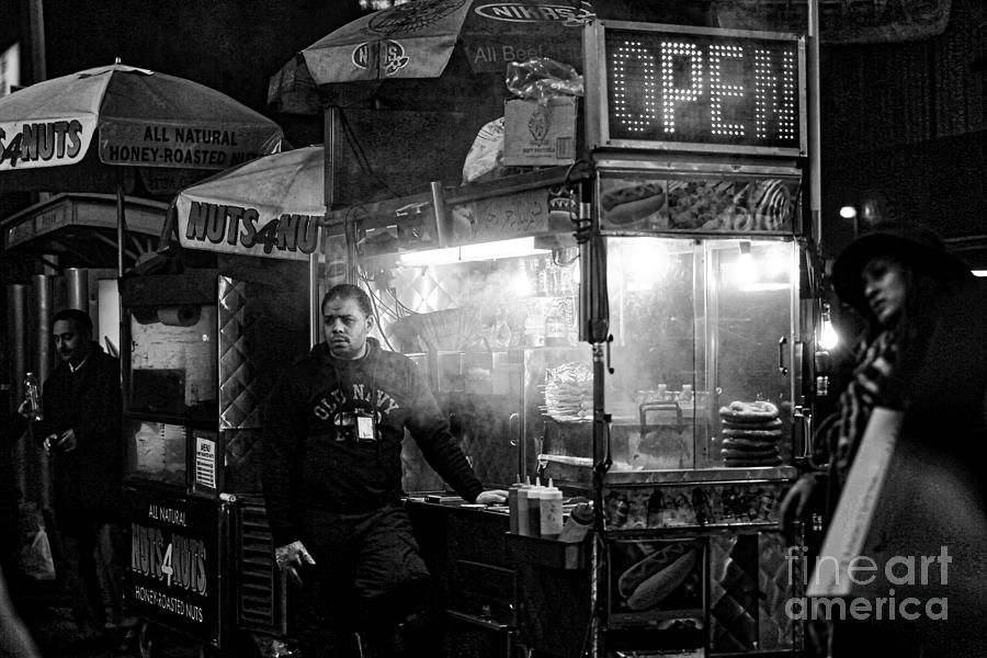 Food Vendor in NYC by Kate Purdy
